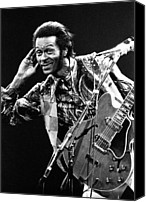Chuck Berry Canvas Prints - Chuck Berry 1973 Canvas Print by Chris Walter