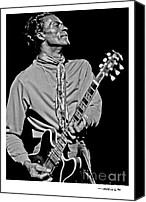 Chuck Berry Canvas Prints - Chuck Berry 2 Canvas Print by Jonathan Fine