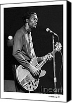 Chuck Berry Canvas Prints - Chuck Berry 3 Canvas Print by Jonathan Fine