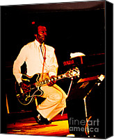 Chuck Berry Canvas Prints - Chuck Berry Canvas Print by Art Scott Fotografie