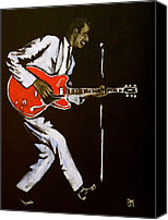 Rock And Roll Canvas Prints - Chuck Berry Canvas Print by Pete Maier