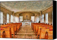 Father Christmas Canvas Prints - Church - Inside a church Canvas Print by Mike Savad