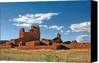 Catholic Church Canvas Prints - Church Abo - Salinas Pueblo Missions Ruins - New Mexico - National Monument Canvas Print by Christine Till