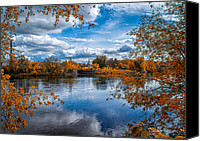 Androscoggin River Canvas Prints - Church Across The River Canvas Print by Bob Orsillo