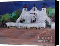 Rafael Gonzales Canvas Prints - Church at Iselta Pueblo Canvas Print by Rafael Gonzales