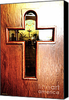 Window And Doors Canvas Prints - Church Door Canvas Print by Cheryl Young