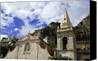 Taormina Canvas Prints - Church in Taormina Canvas Print by Madeline Ellis