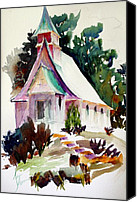 Valle Crucis Canvas Prints - Church in the Wildwood Canvas Print by Jane Heron