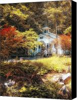 Gatlinburg Canvas Prints - Church in the Woods Canvas Print by Gina Cormier