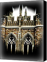 Airbrush Art Digital Art Canvas Prints - Church Canvas Print by Michelle Frizzell-Thompson