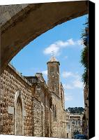 The Church Of The Condemnation Canvas Prints - Church of the Flagellation Jerusalem Canvas Print by Eva Kaufman