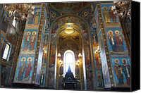 Church On Spilled Blood Canvas Prints - Church of the Savior on Blood Canvas Print by Pejman Kind