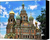 Church On Spilled Blood Canvas Prints - Church of the Spilled Blood Canvas Print by Gary Little