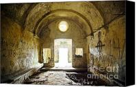 Indoors Inside Canvas Prints - Church Ruin Canvas Print by Carlos Caetano