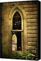 Unused Canvas Prints - Church Window Church Bell Canvas Print by Lois Bryan