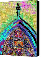 Stain Glass Digital Art Canvas Prints - Church Window on ACID Canvas Print by Paul W Faust -  Impressions of Light