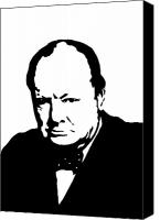 Democracy Canvas Prints - Churchill Canvas Print by War Is Hell Store