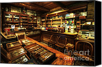Cigars Canvas Prints - Cigar Shop Canvas Print by Yhun Suarez