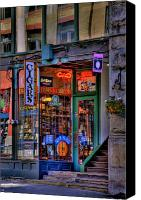 Pioneer Square Canvas Prints - Cigar Store Canvas Print by David Patterson