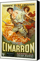 Postv Photo Canvas Prints - Cimarron, Richard Dix, Irene Dunne, 1931 Canvas Print by Everett