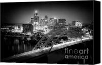 Pedals Canvas Prints - Cincinnati A New Perspective Canvas Print by Kimberly Nickoson