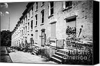 Old Houses Canvas Prints - Cincinnati Abandoned Buildings at Glencoe-Auburn Complex Canvas Print by Paul Velgos
