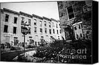 Old Houses Canvas Prints - Cincinnati Glencoe-Auburn  Abandoned Buildings Canvas Print by Paul Velgos
