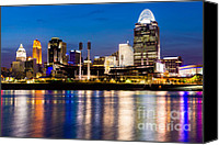 2012 Canvas Prints - Cincinnati Skyline at Night  Canvas Print by Paul Velgos