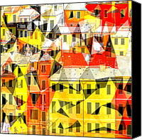 Architectur Canvas Prints - Cinque Canvas Print by Ilias Athanasopoulos
