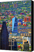 Aerial Canvas Prints - Cira Centre 2929 Arch Street Philadelphia Pennsylvania 19104 Canvas Print by Duncan Pearson