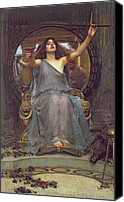 Williams Painting Canvas Prints - Circe Offering the Cup to Ulysses Canvas Print by John Williams Waterhouse