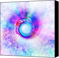 Abstract Stars Digital Art Canvas Prints - Circle Eye  Canvas Print by Setsiri Silapasuwanchai
