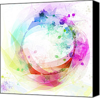 Circle Digital Art Canvas Prints - Circle Of Life Canvas Print by Setsiri Silapasuwanchai