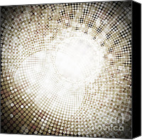 Circle Digital Art Canvas Prints - Circle Canvas Print by Setsiri Silapasuwanchai