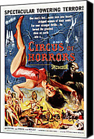 1960 Movies Canvas Prints - Circus Of Horrors, Poster Art, 1960 Canvas Print by Everett