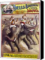 Elephant Running Canvas Prints - CIRCUS POSTER, c1890 Canvas Print by Granger