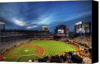 New York Mets Canvas Prints - Citi Field Twilight Canvas Print by Shawn Everhart