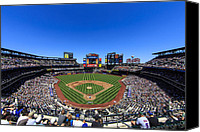 New York Mets Canvas Prints - Citifield Canvas Print by Rick Berk