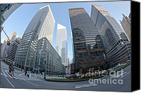 Crosswalk Canvas Prints - Citigroup Center from Park Avenue I Canvas Print by Clarence Holmes