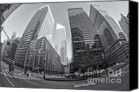 Crosswalk Canvas Prints - Citigroup Center from Park Avenue II Canvas Print by Clarence Holmes