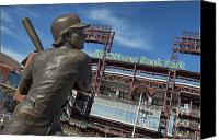 Philadelphia Phillies Stadium Photo Canvas Prints - Citizans Bank Park Canvas Print by John Greim