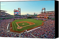 Philadelphia Phillies Stadium Photo Canvas Prints - Citizens Bank Park - Philadelphia Phillies Canvas Print by Mark Whitt
