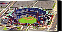 Aerial Canvas Prints - Citizens Bank Park Phillies Canvas Print by Duncan Pearson