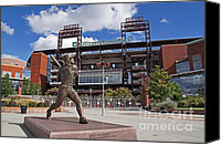 Phillies Canvas Prints - Citizens Park 1 Color Canvas Print by Jack Paolini