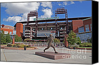 Philadelphia Phillies Stadium Photo Canvas Prints - Citizens Park 2 Color Canvas Print by Jack Paolini