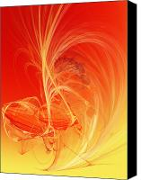 Fine Art Fractal Art Canvas Prints - Citrus Infusion Canvas Print by Andee Photography