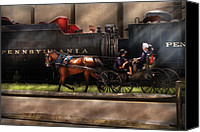 Amish Canvas Prints - City - Lancaster PA - You got to love Lancaster Canvas Print by Mike Savad