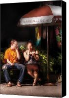First Couple Canvas Prints - City - NY - MarieBelle Gelato  Canvas Print by Mike Savad