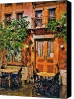 Greenwich Canvas Prints - City - Vegas - NY - A look at Greenwich Village Canvas Print by Mike Savad