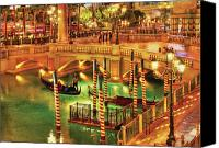 Venetian Canvas Prints - City - Vegas - Venetian - The Venetian at night Canvas Print by Mike Savad